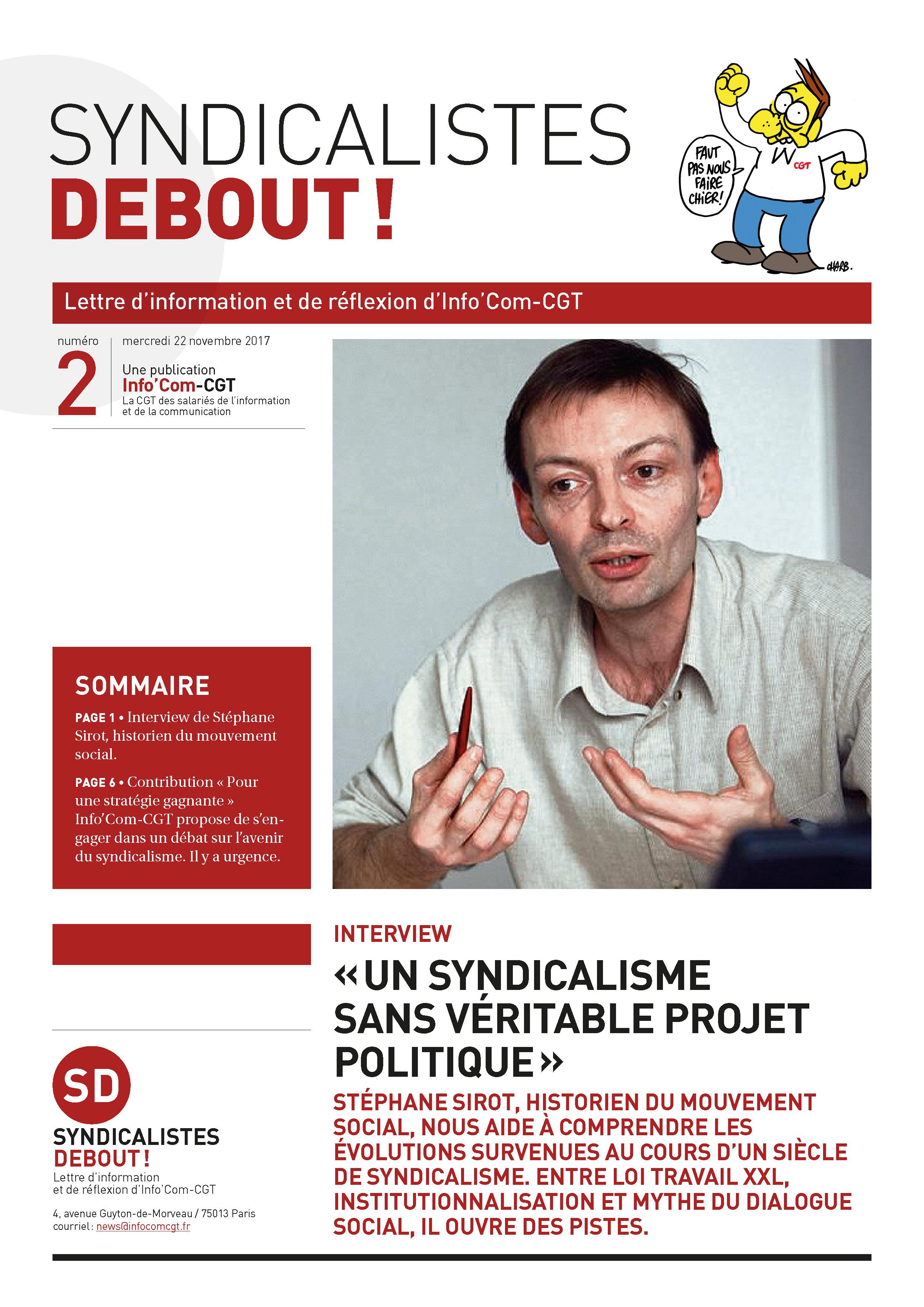 Syndicalistes Debout ! n°2 est arrivé. À lire absolument